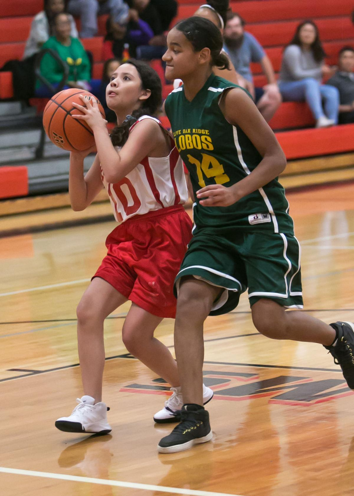 Live Oak Ridge vs. Manor Girls Middle school basketball