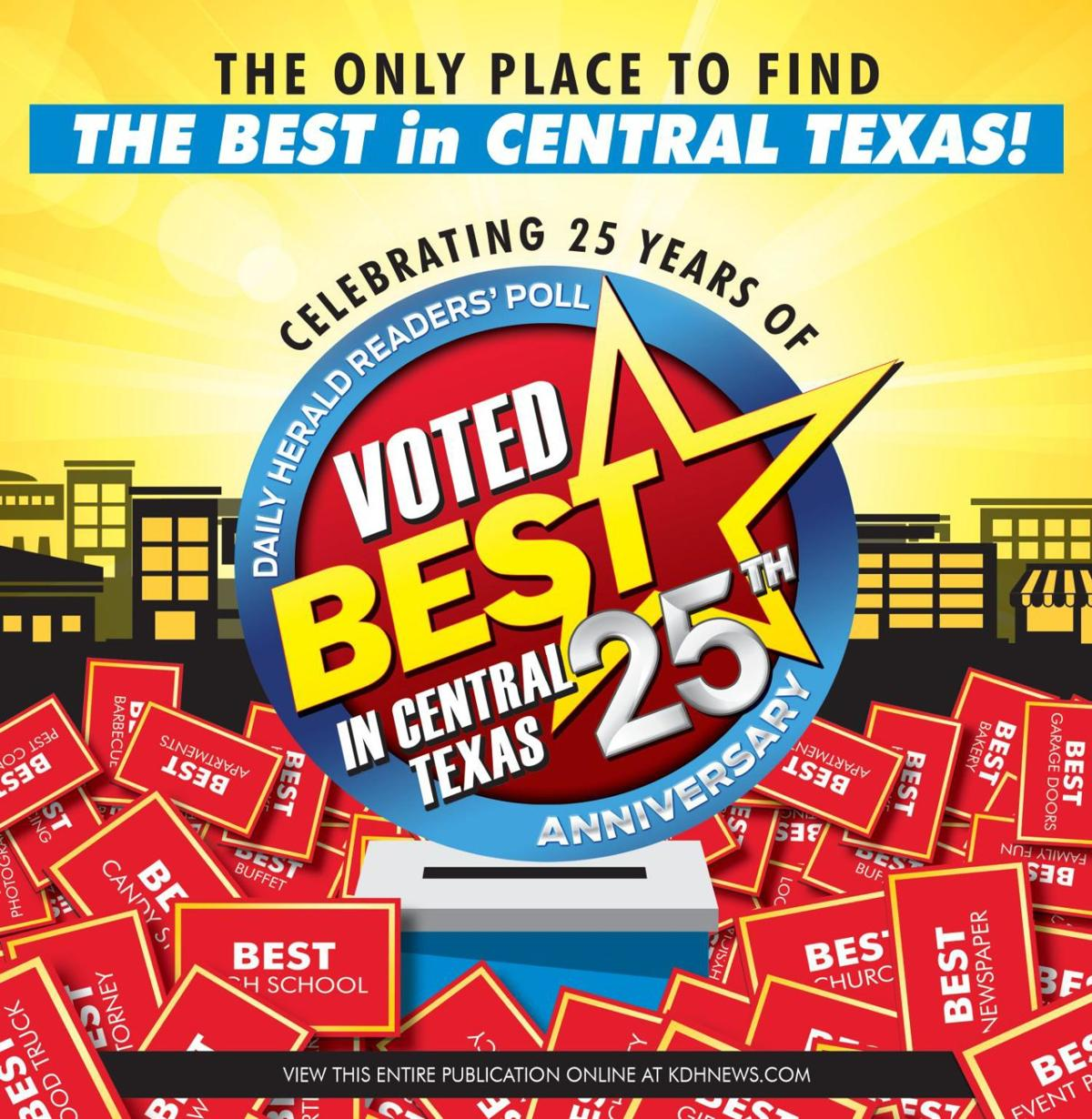 Best in Central Texas 25th Anniversary