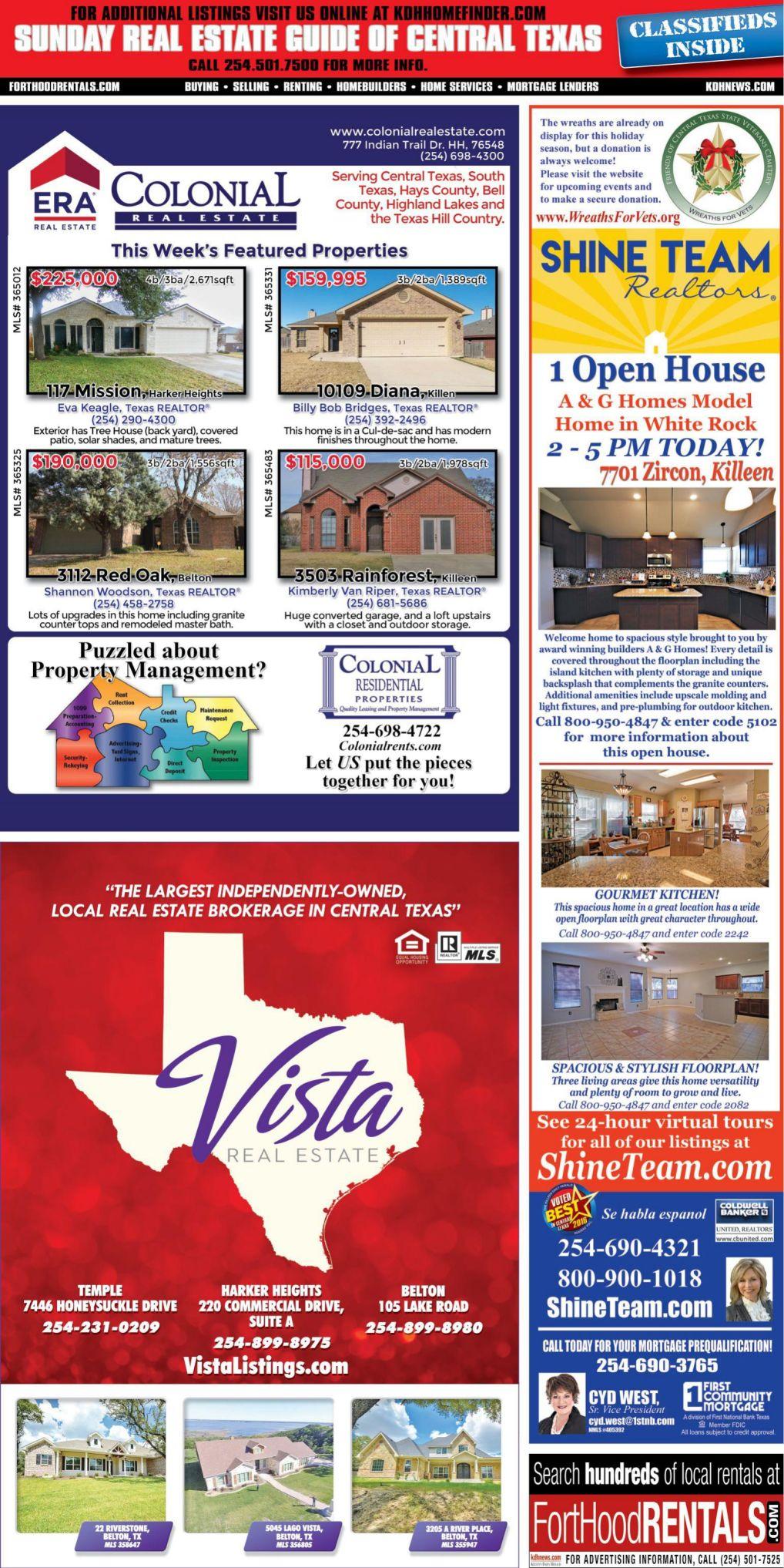 Sunday Real Estate Guide Dec. 16th