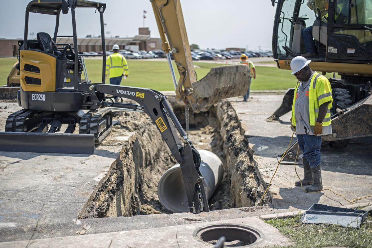 Killeen sinkhole on South W.S. Young Drive