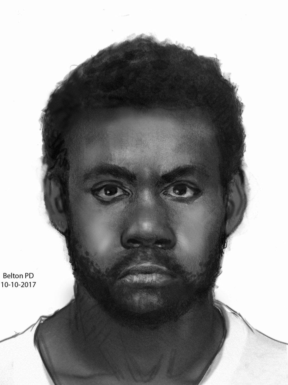 Belton slaying suspect sketch
