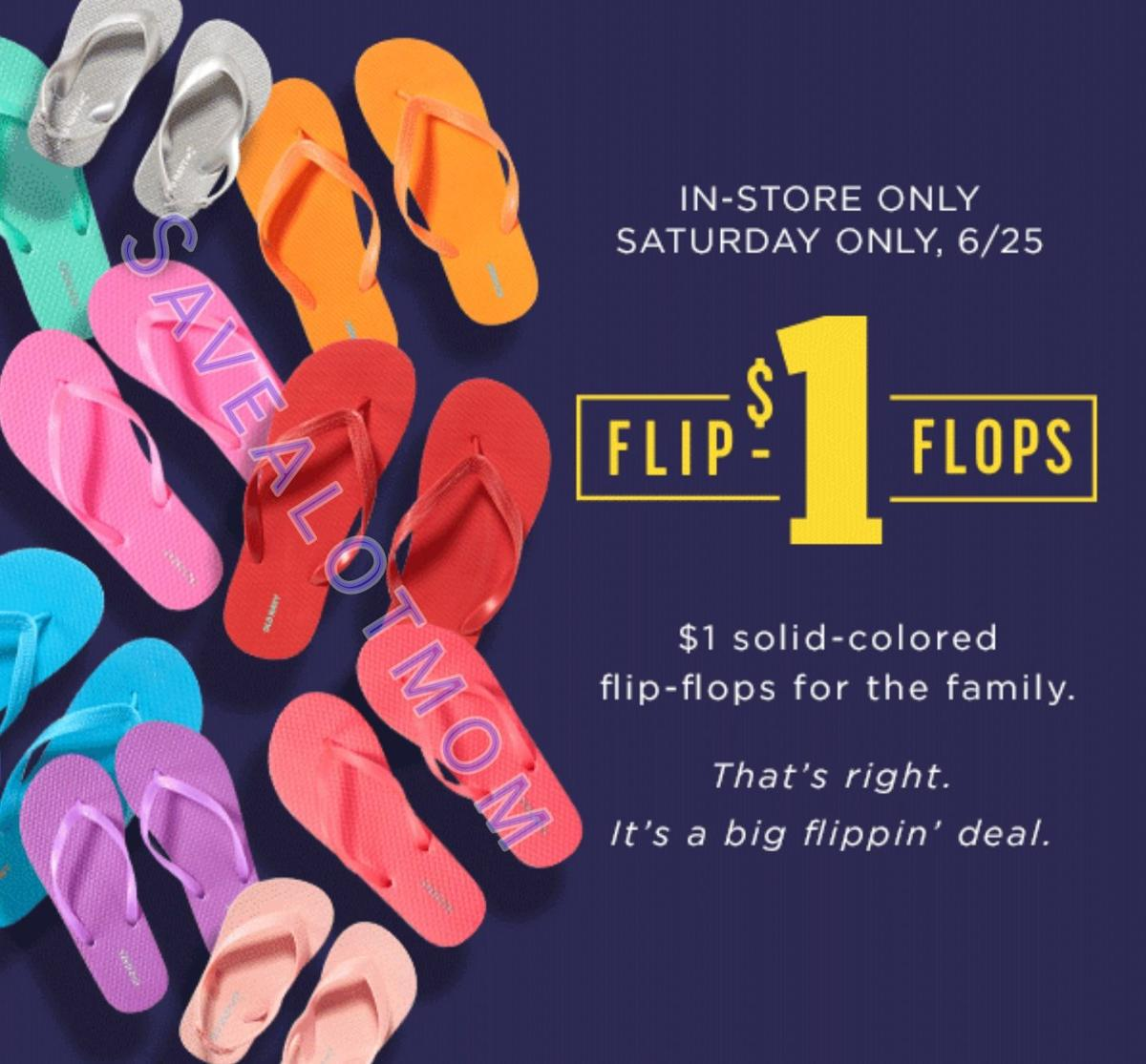 Old navy 1 flip flops this saturday save a lot mom kdhnews 1 flip flops publicscrutiny Gallery