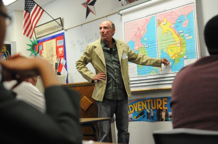 Veteran visits Shoemaker students