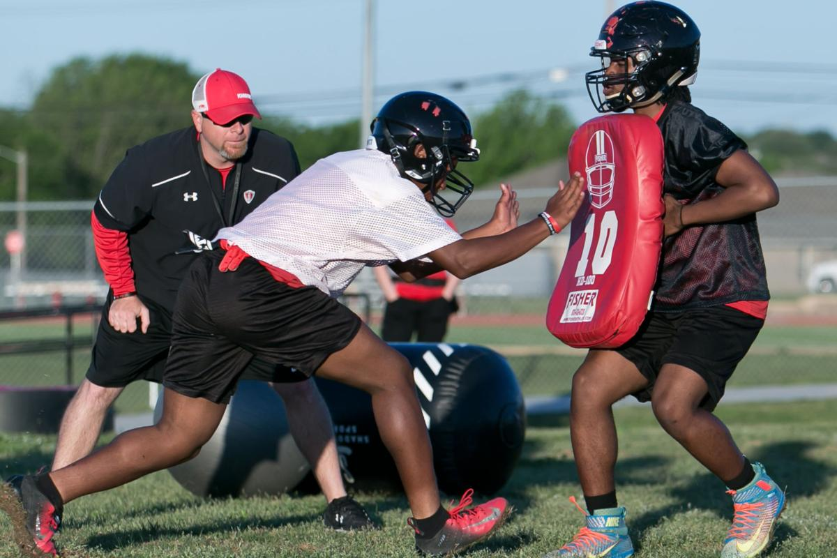 Harker Heights first day of Spring Football-6