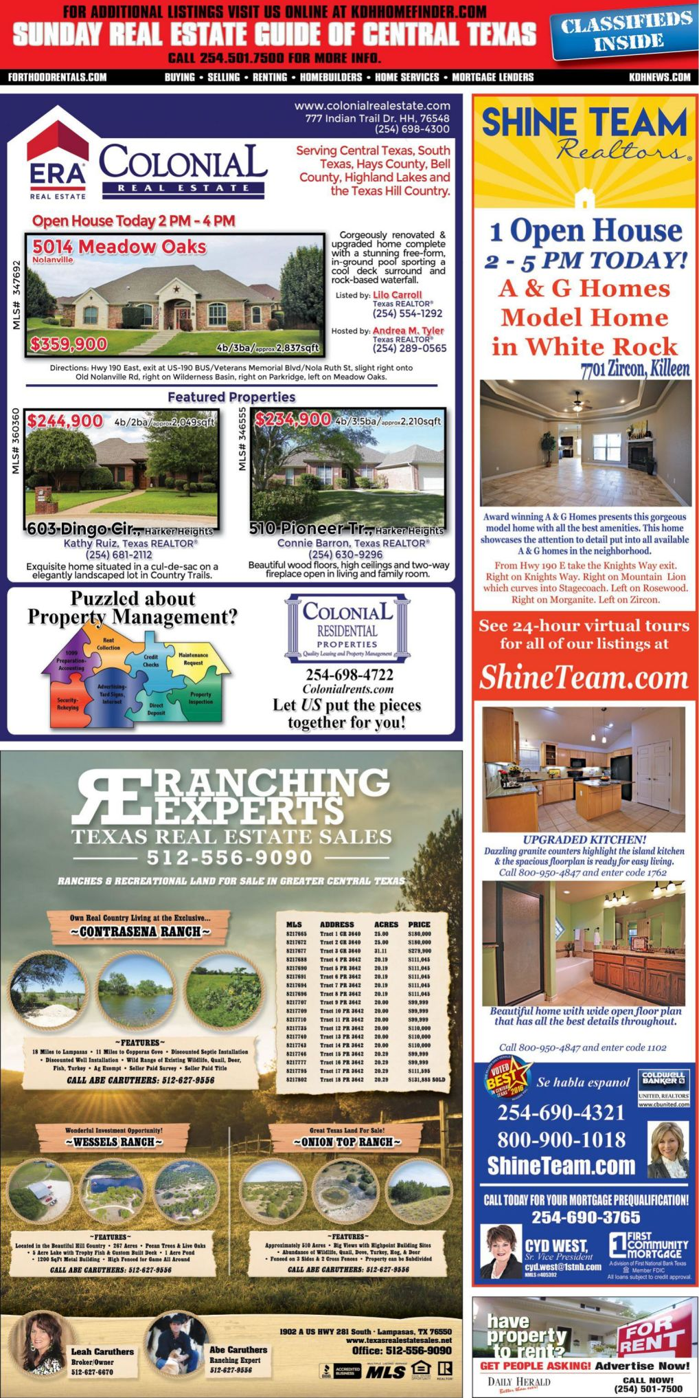 Sunday Real Estate Guide Oct. 7th
