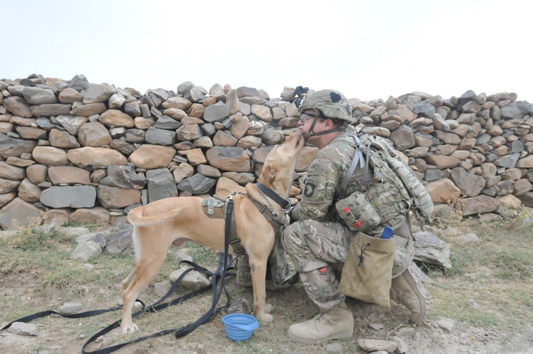 Sgt. Marly and his handler Spc. Mathew Streeter
