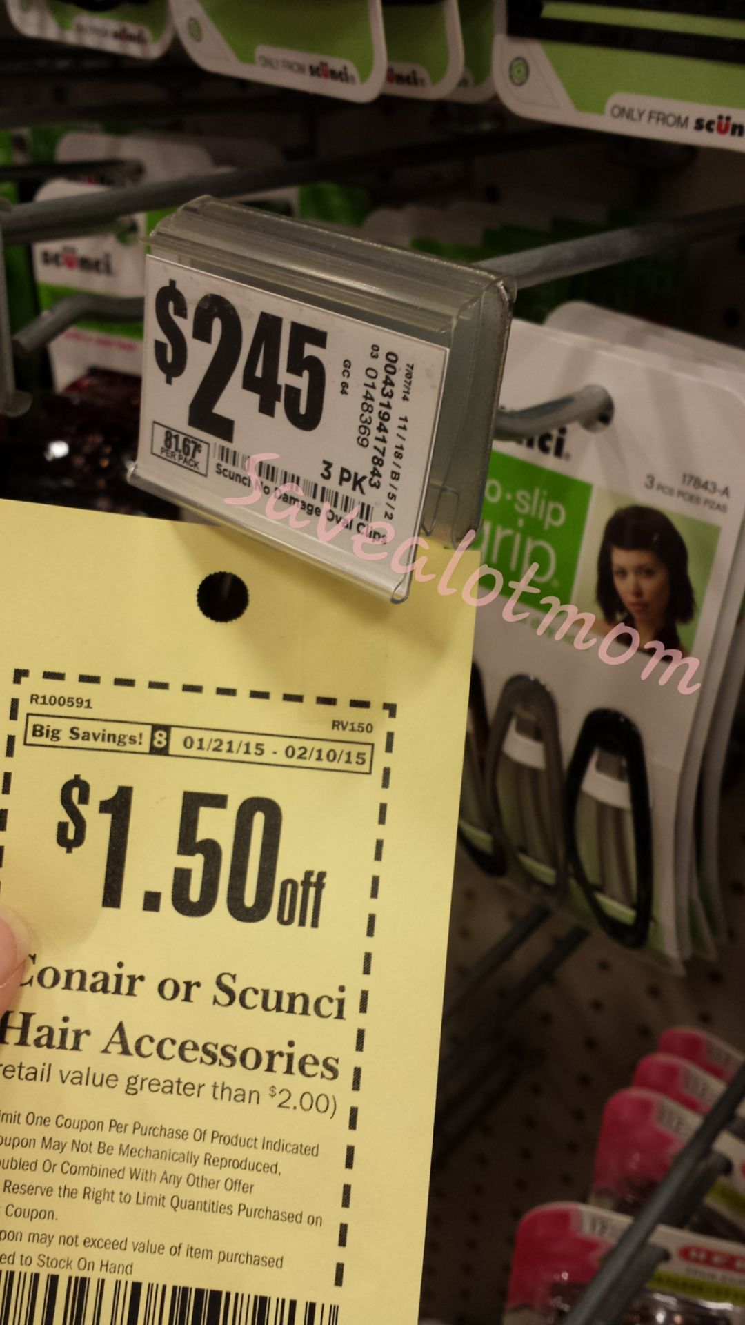 $.95 Scunci Hair Products