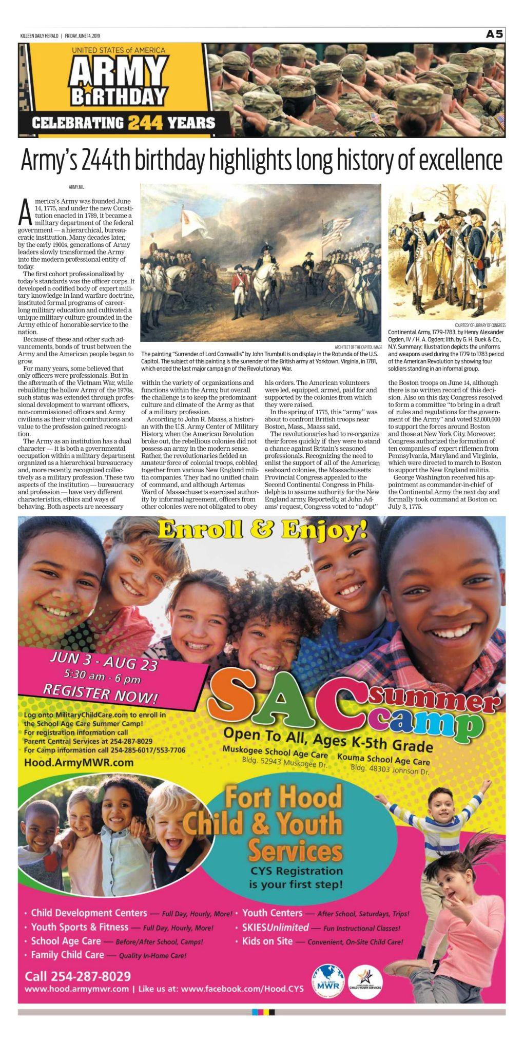 Army Birthday Killeen Daily Herald