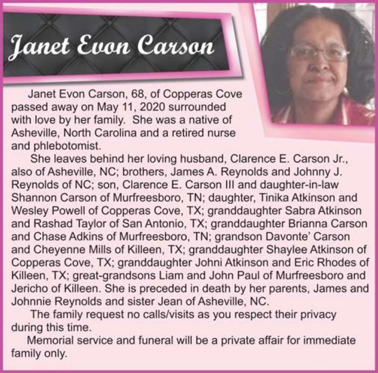 Janet Evon Carson