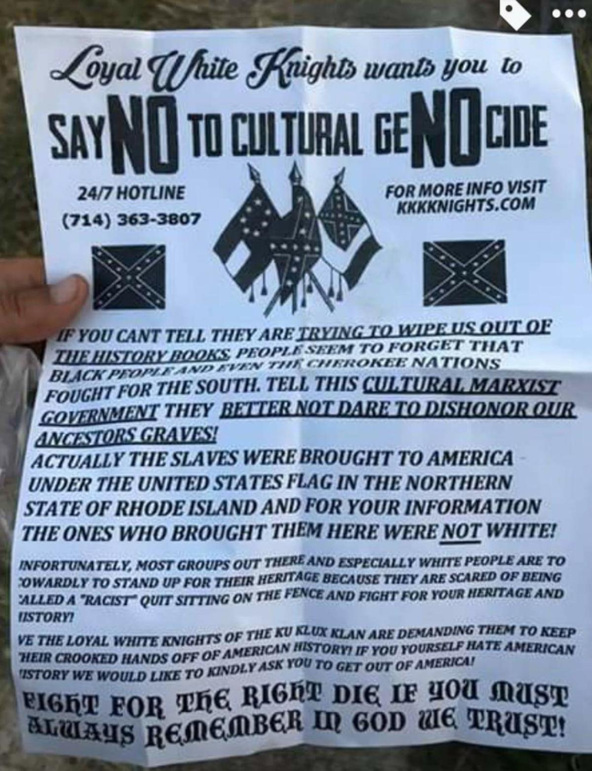 KKK flier