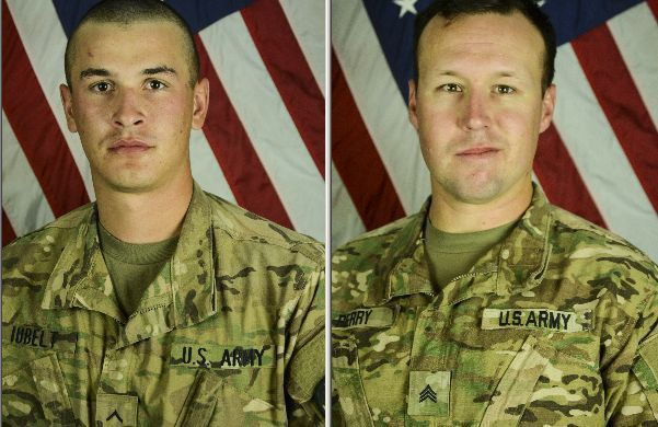 Sgt. John W. Perry and Pfc. Tyler R. Iubelt