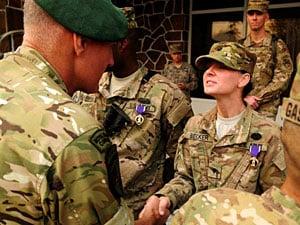 Service members overcome ambush, receive awards