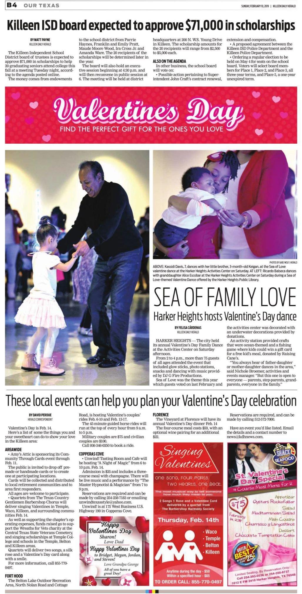 Valentine's Day Feb. 10th