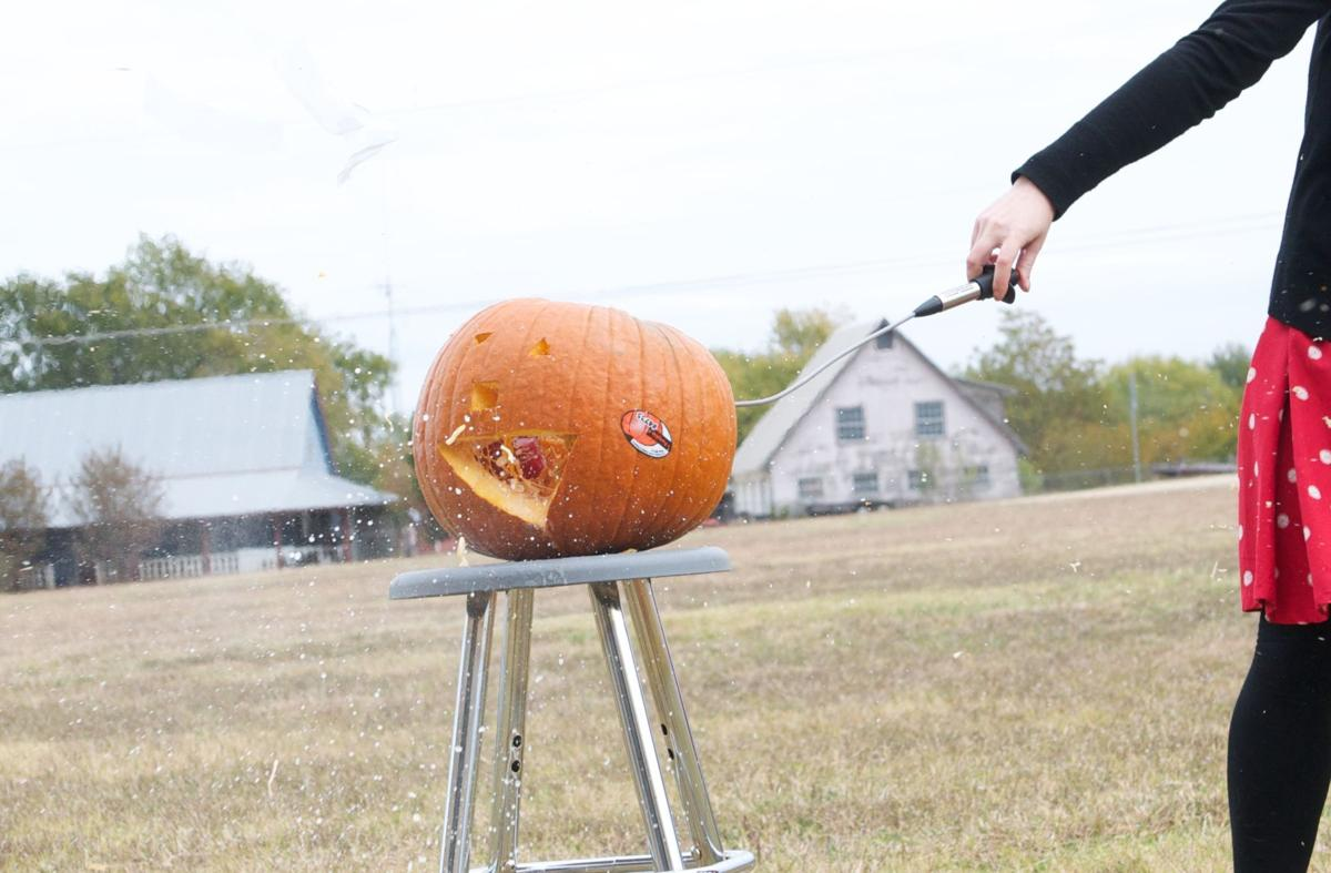 Halloween exploding pumpkin
