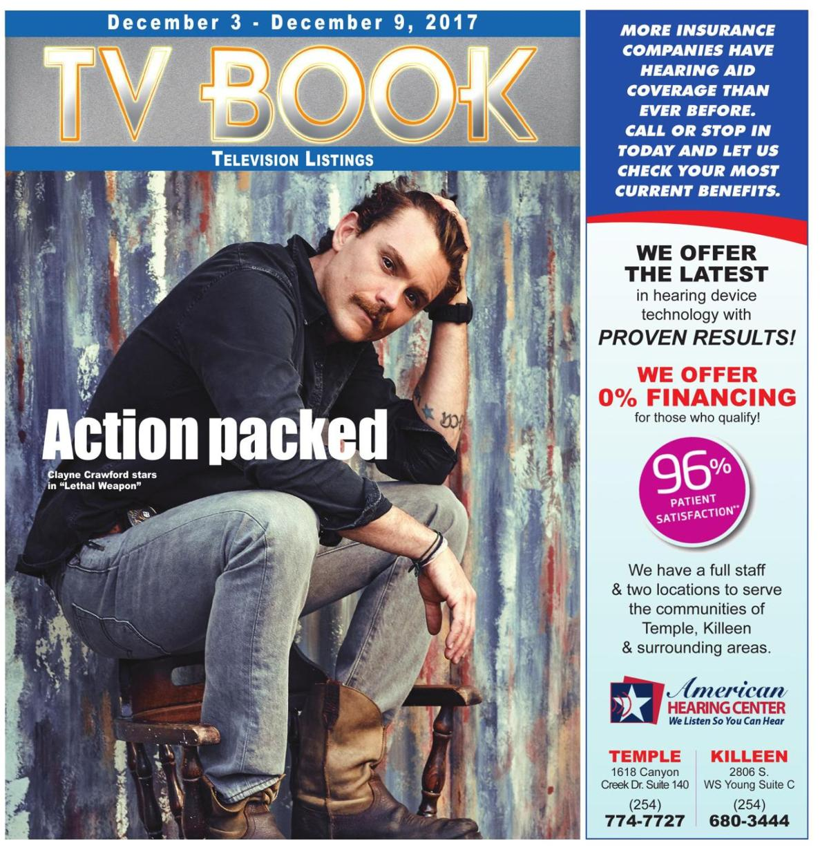 TV Book ~ Dec. 3rd - Dec. 9th