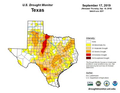 Drought conditions persist in Killeen-Fort Hood area, but ... on texas energy map, texas disease map, texas stream map, texas climate map, texas drainage map, texas coastal management map, the woodlands texas faultlines map, texas light map, texas cold front map, texas tsunami map, texas migration map, texas ozone map, texas fall color map, texas wildfires, texas highway 16 map, texas blizzard map, texas arizona new mexico map, plant native texas regions map, texas record cold map, texas air mass map,