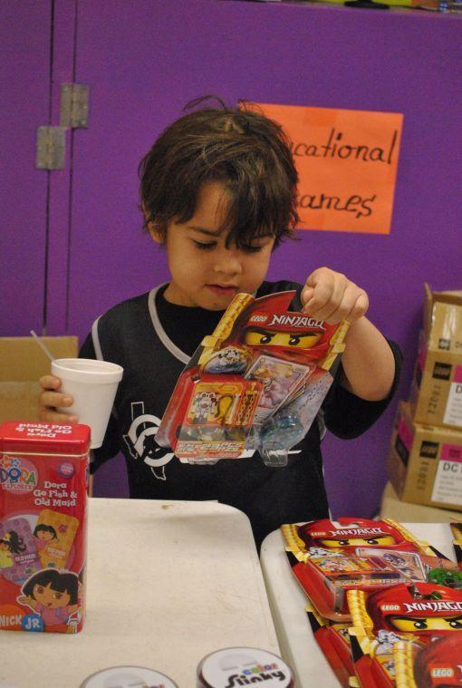 Children find holiday joy through toys
