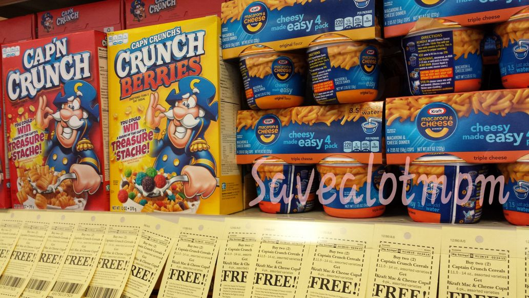 Captain Crunch and Kraft Mac & Cheese!
