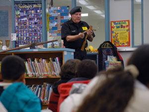Retired veterans visit Clear Creek Elementary School