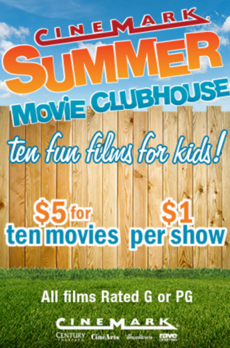 Cinemark Theatres $1 Kids' Movies This Summer! | Save A Lot Mom