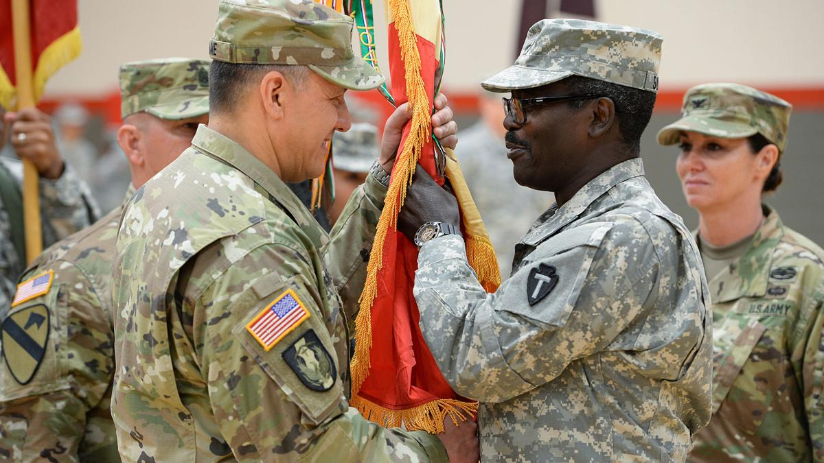36th Sustainment Brigade Change of Command