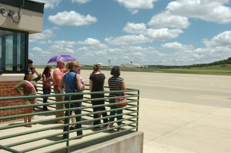 Long Knife Families go behind the scenes at Army airfield