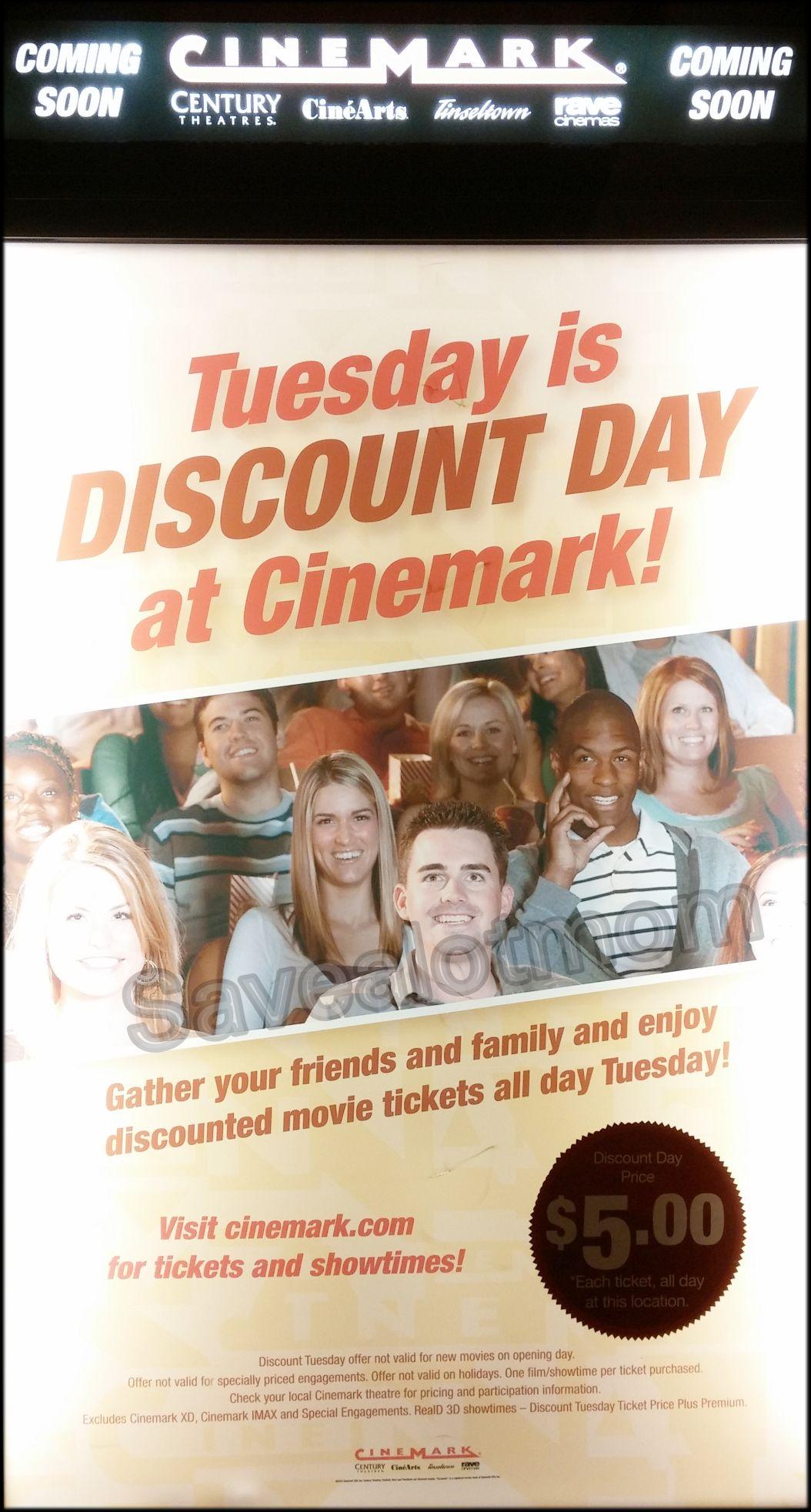 Cinemark 5 Movies Every Tuesday Save A Lot Mom