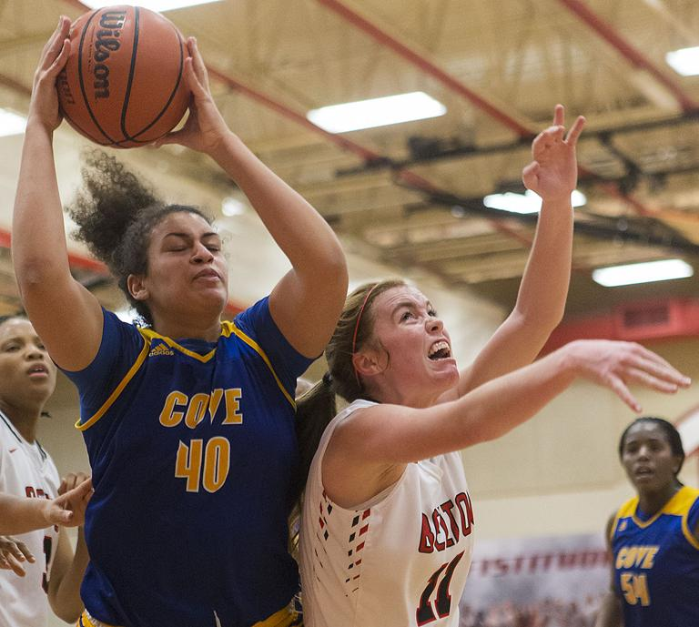 8-6A BASKETBALL: Lady Tigers overcome dreadful first half, beat Cove 40-28