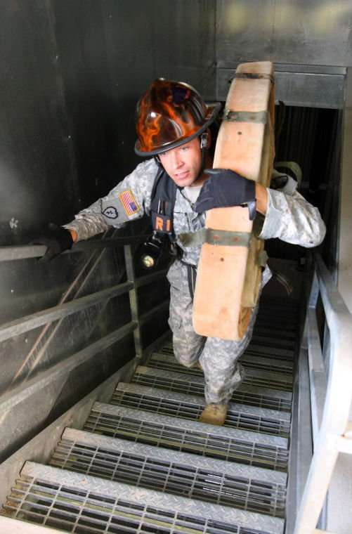 4th SB soldiers take on firefighter combat challenge