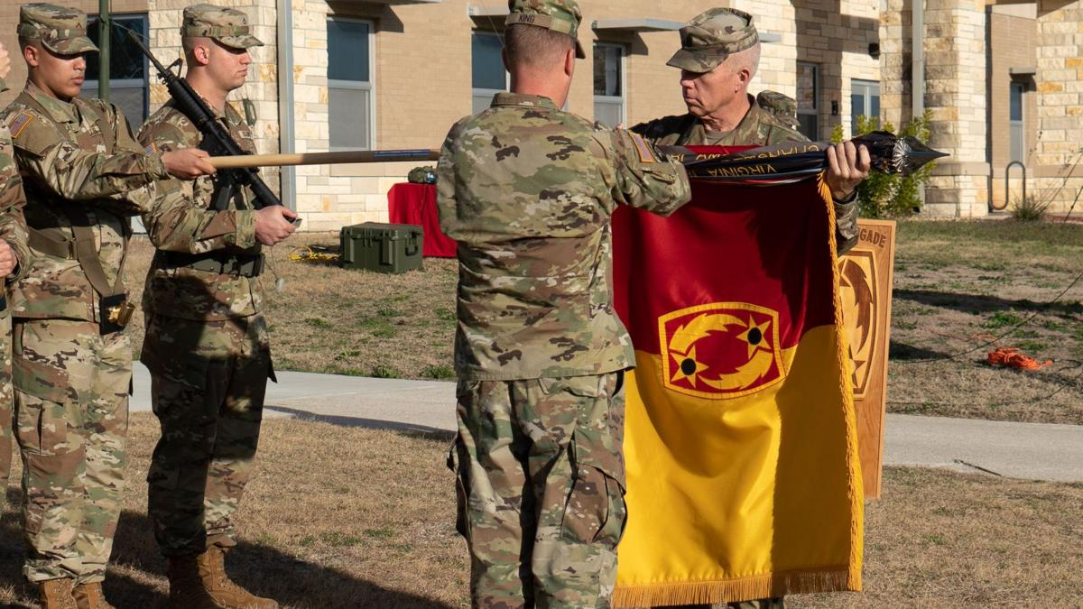 Fort Hood unit hosts colors casing ceremony for upcoming deployment to Qatar