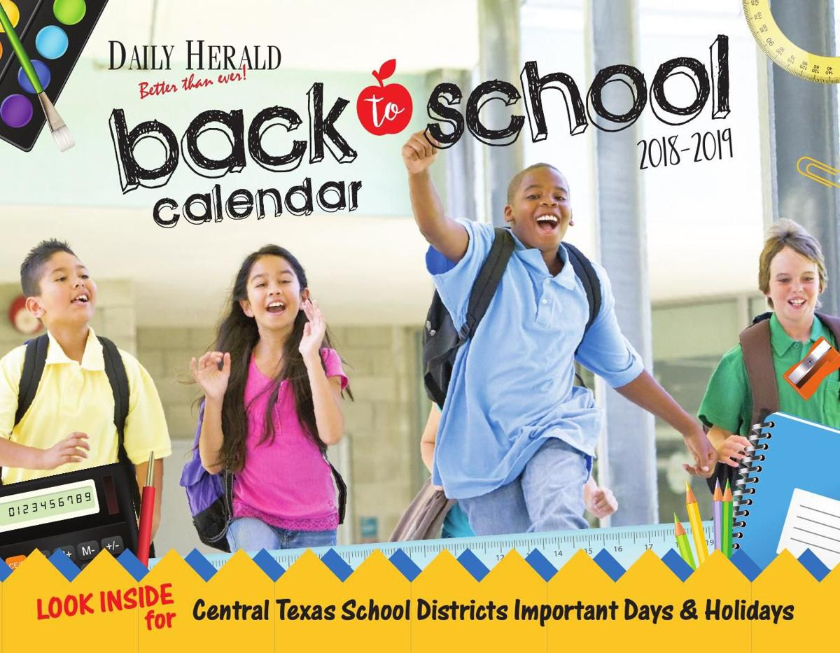 Back to School Calendar 2018