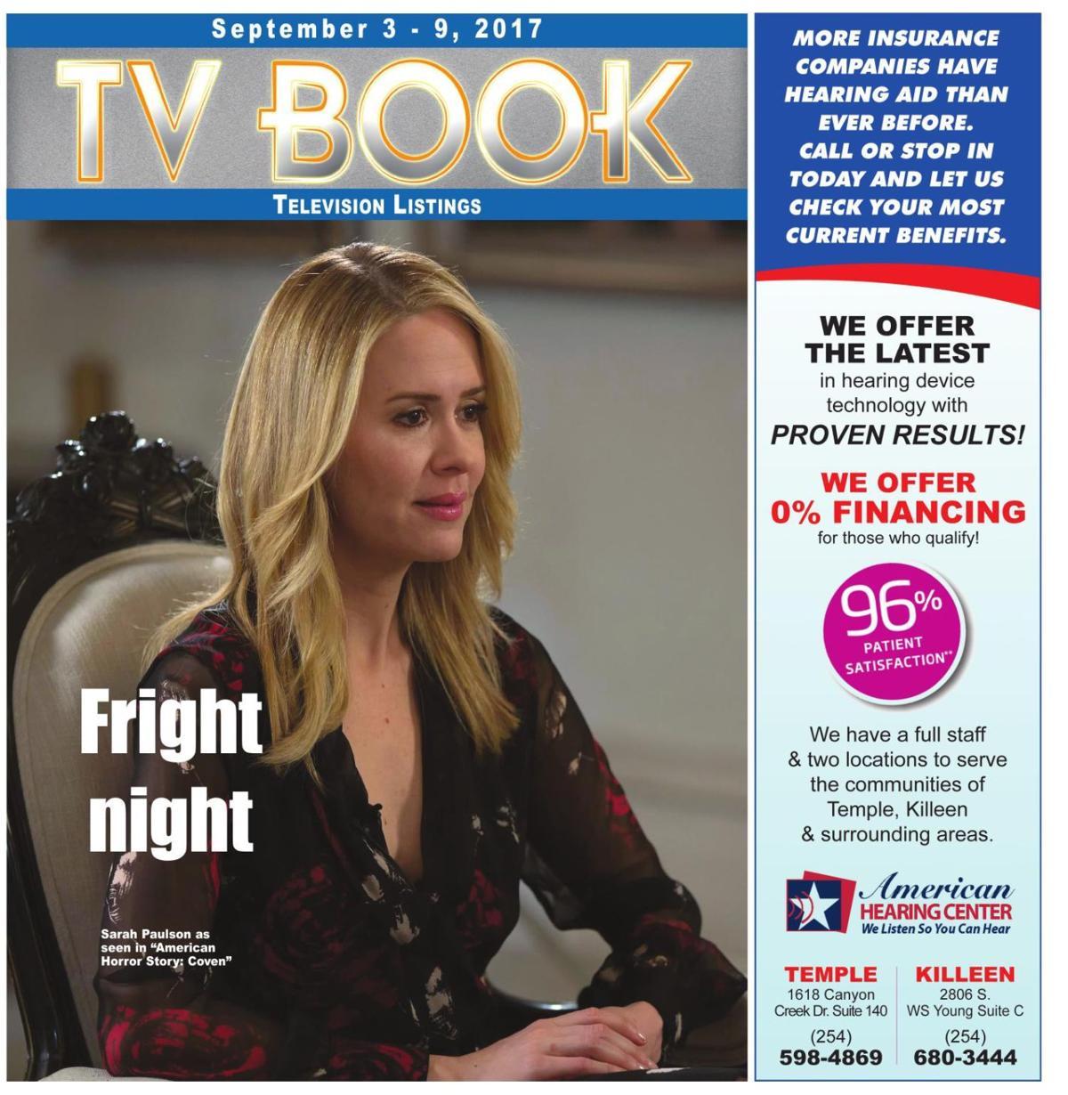 TV Book September 3rd - September 9th