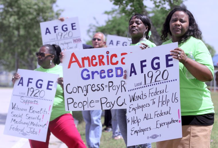 American Federation of Governmental Employees Picket