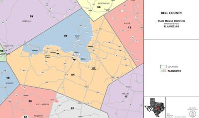 Bell county proposed map