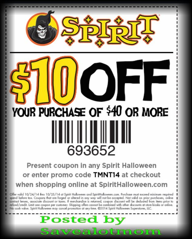 Spirit halloween 10 off coupon save a lot mom for Garage appeal coupon code