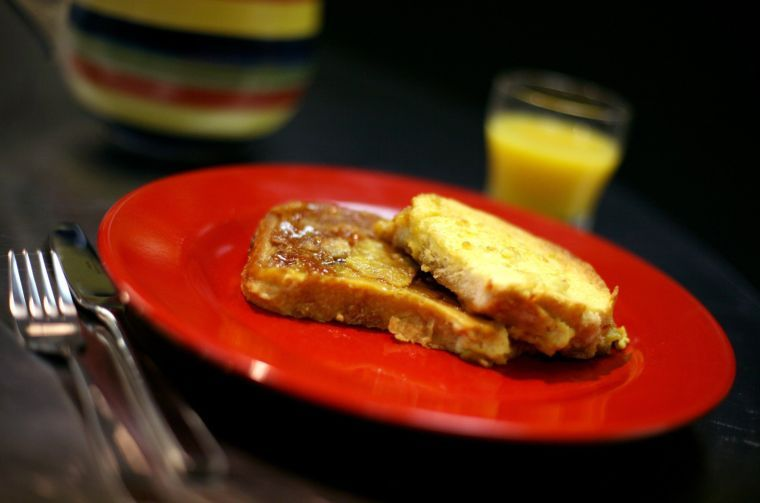 Warm French toast