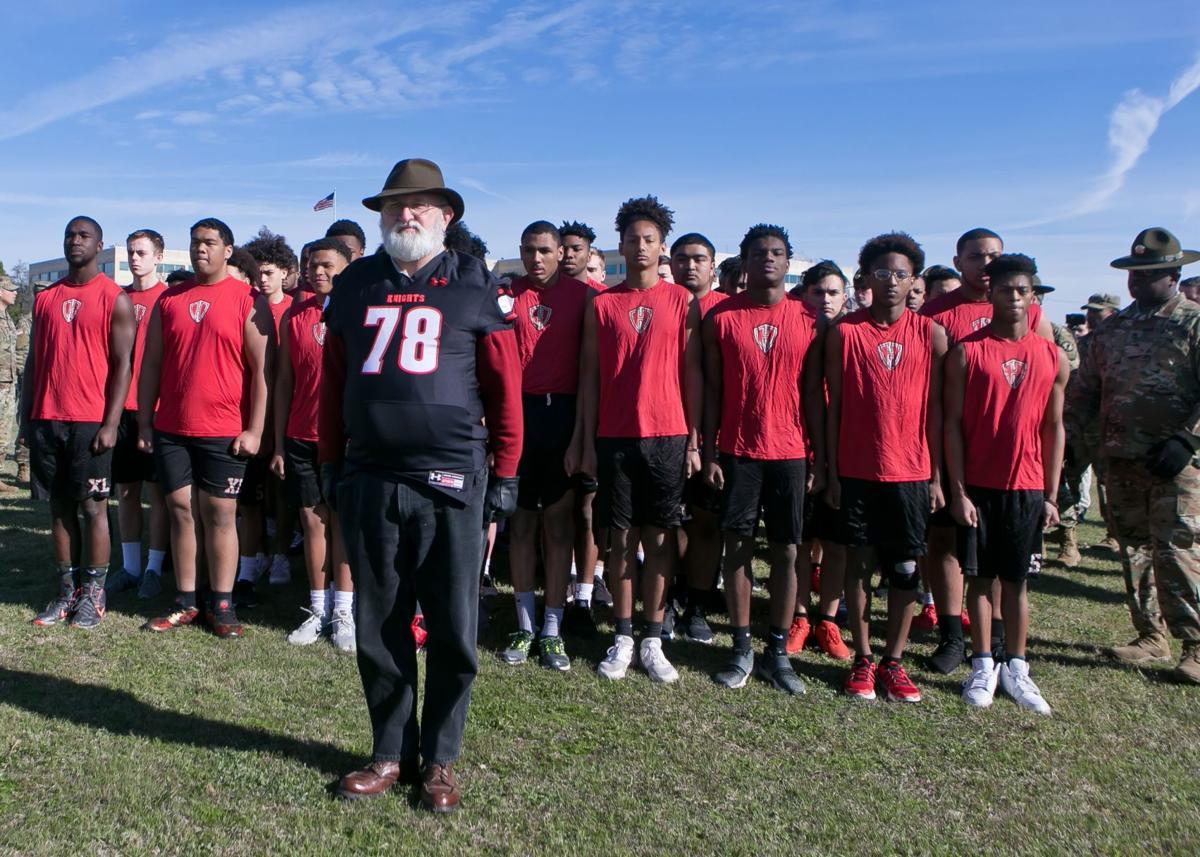 High School Varsity Football Team Army Boot Camp-7