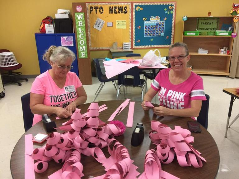 Schools pink out for breast cancer awareness