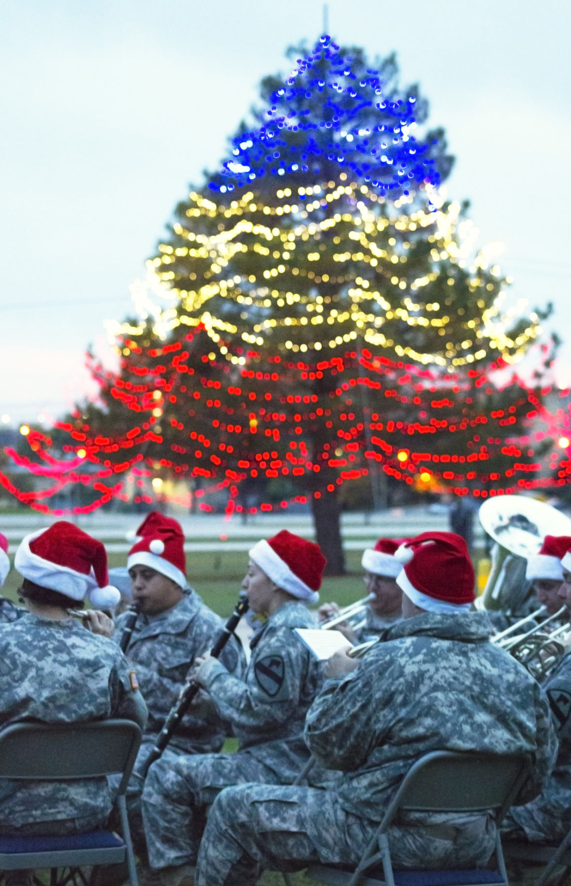 Heights Fort Hood celebrate lighting of Christmas trees
