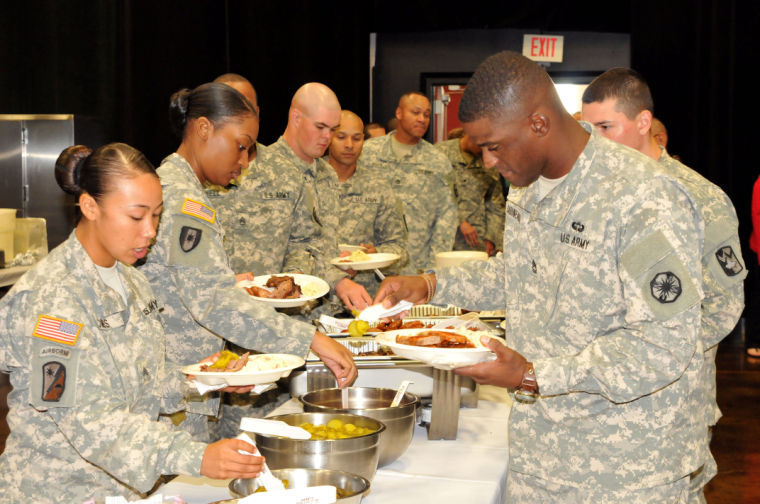 Soldiers honored with luncheon by Temple Chamber