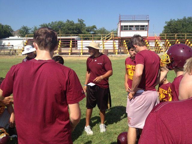 Lometa football practice