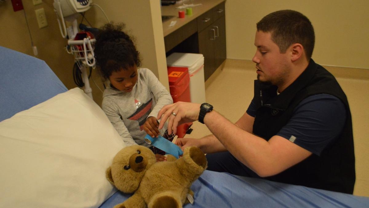 Stuffed animals treated for injuries at Heights clinic