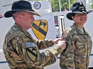 1st Cav Celebrates Armys Birthday With Combat Patch