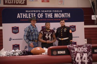 Semper Fidelis Athlete of the Month award Killeen High School junior Amir Ward