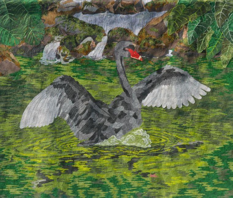 Pauline Barrett 'paints' quilts