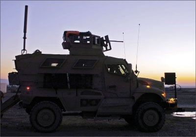 Supply platoon the first to put its MRAPs to use in a mission