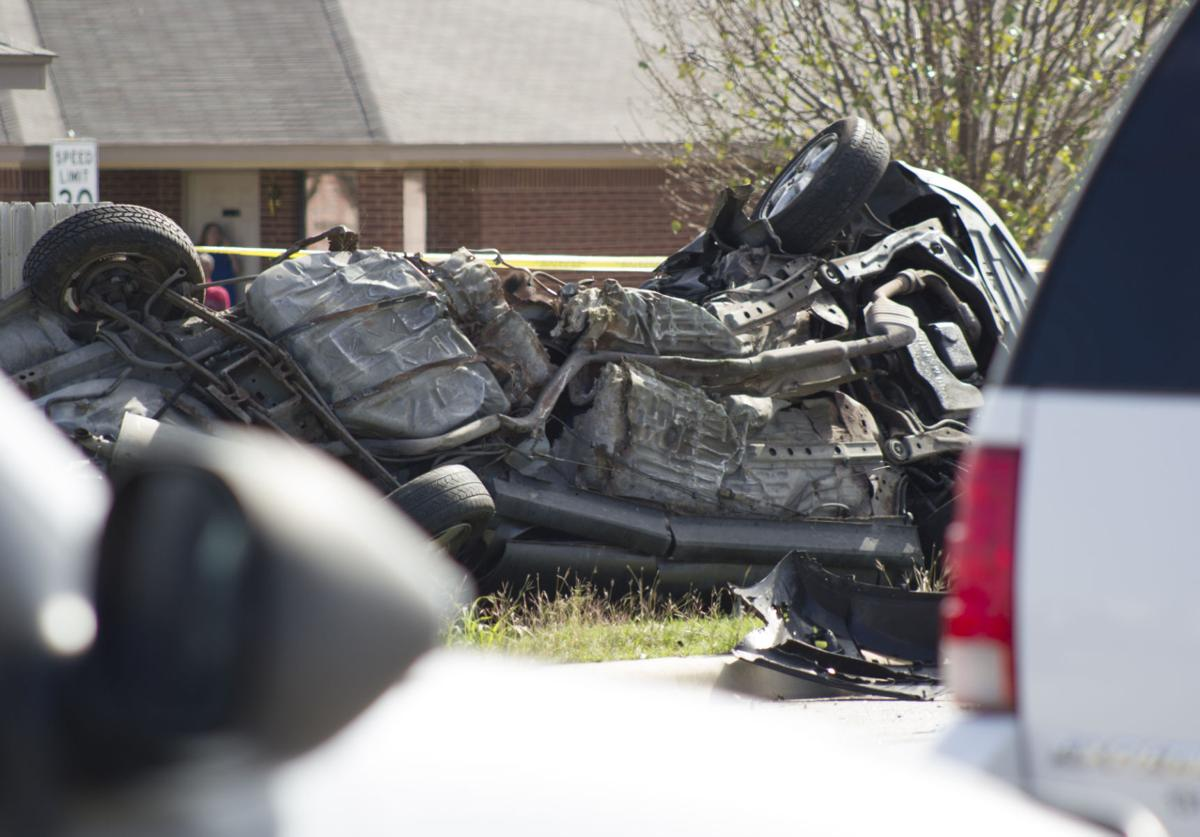 The underside of a ford taurus involved in a fatal accident in the 5400 block of trimmier road in killeen is seen friday nov 13 2015