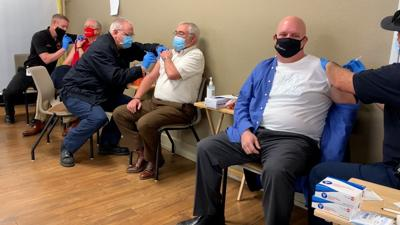 Elected officials receive vaccine