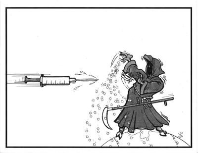 Bernie Bates cartoon