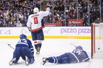 d4c19984f32 Alex Ovechkin scores hat trick to lead Capitals past Maple Leafs ...